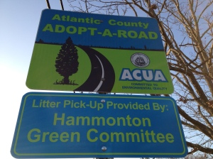 March 2012, Adopt-a-Road Sign is up!